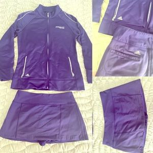 Adidas golf jacket and skirt set